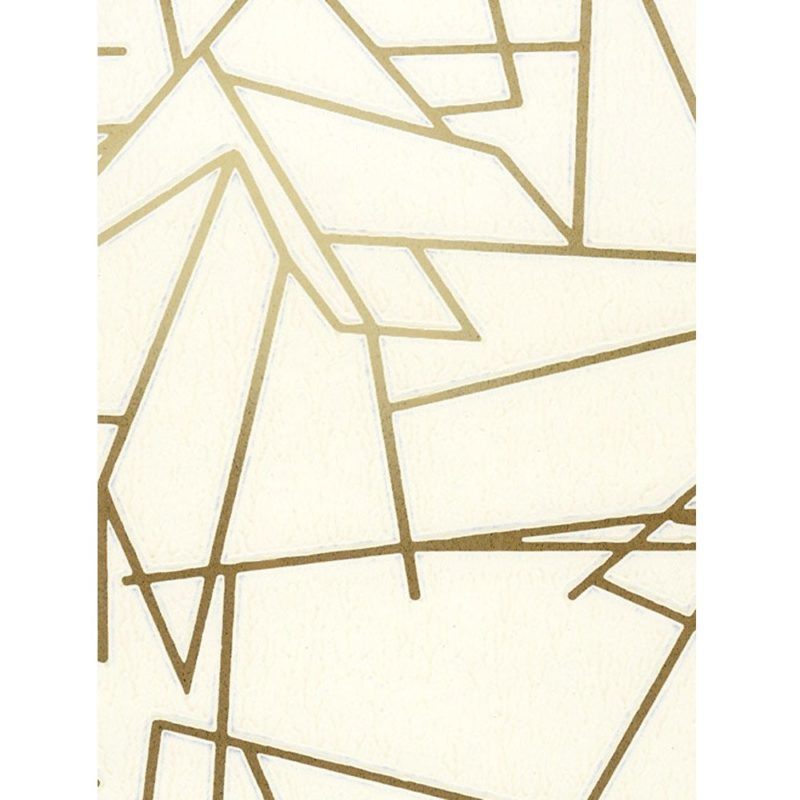 Angles cream gold wallpaper sample