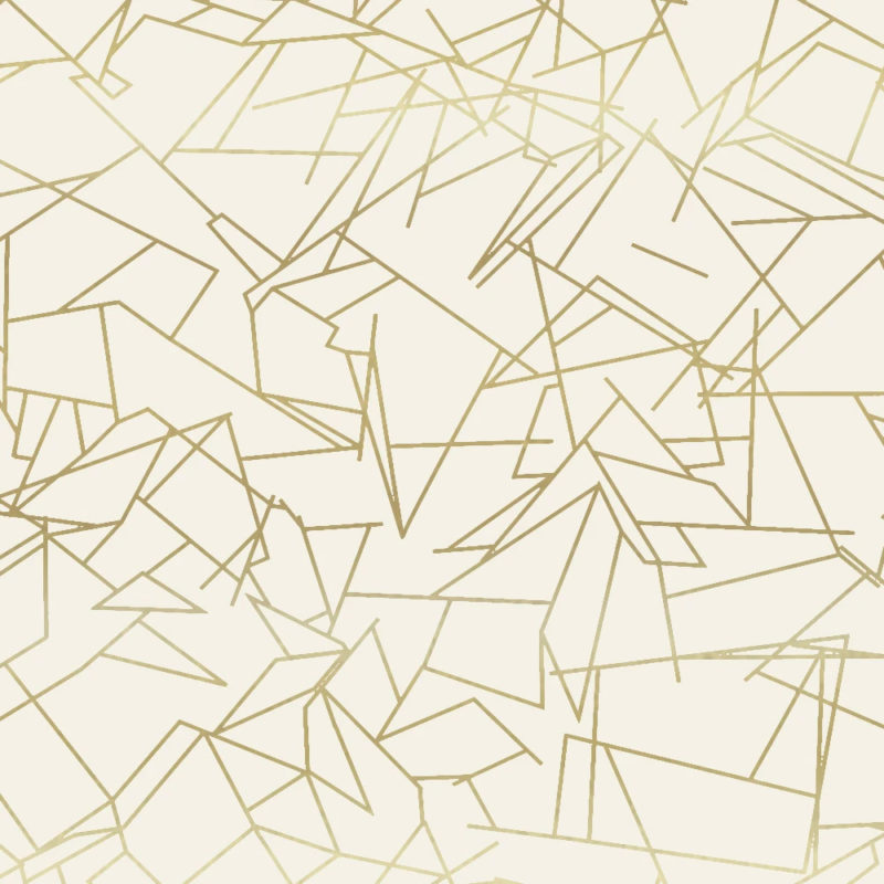 Angles gold / cream wallpaper