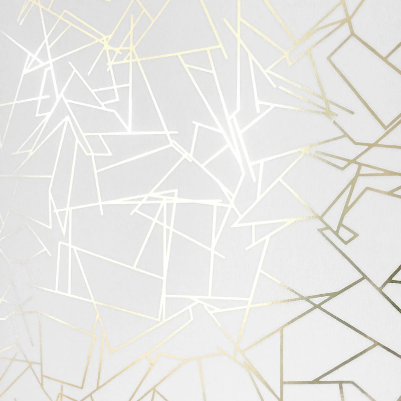 Angles gold white wallpaper