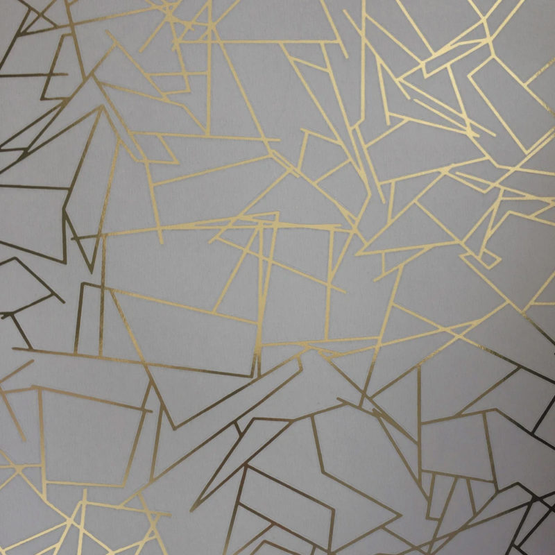 Angles gold / zinc grey wallpaper