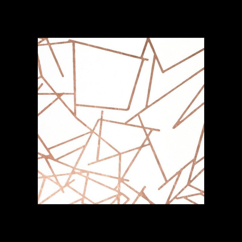Angles copper white wallpaper