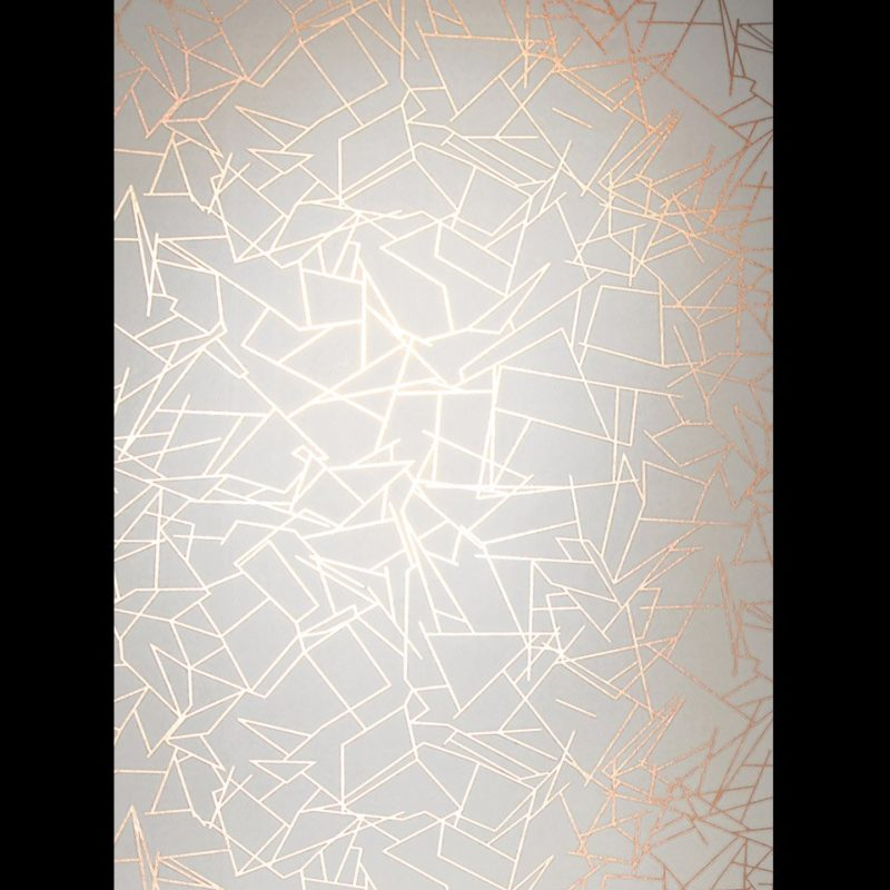 Copper white wallpaper Angles copper and white metallic wallpaper