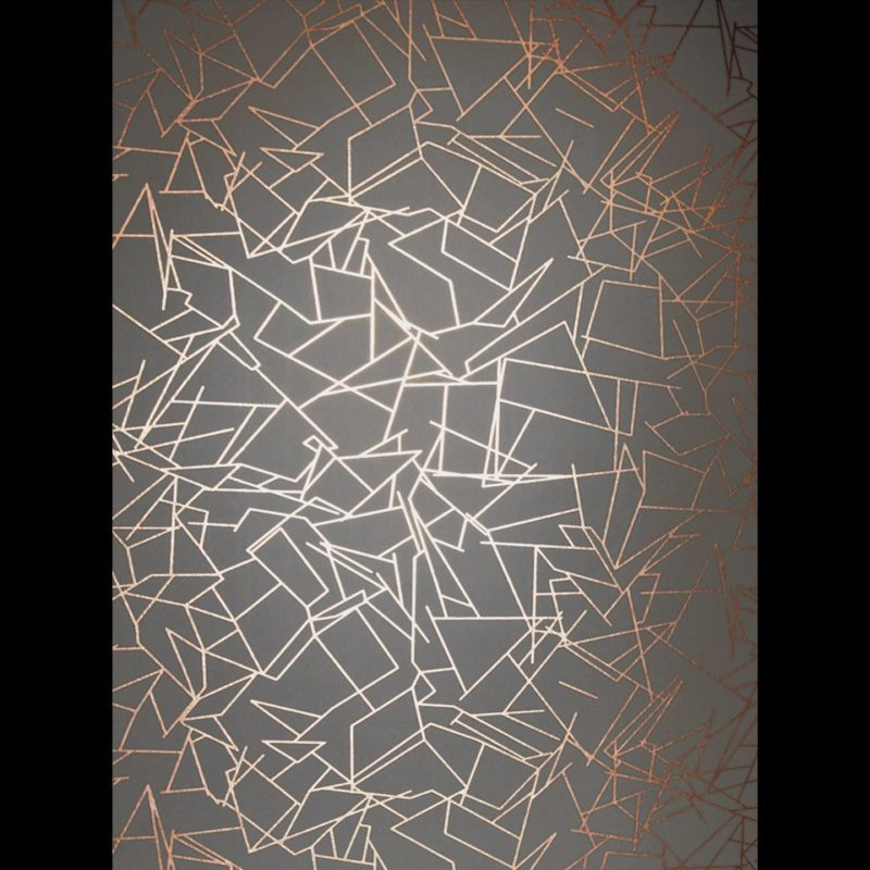Copper grey wallpaper | Angles copper rose lead grey | Metallic wallpaper | Geometric wallpaper