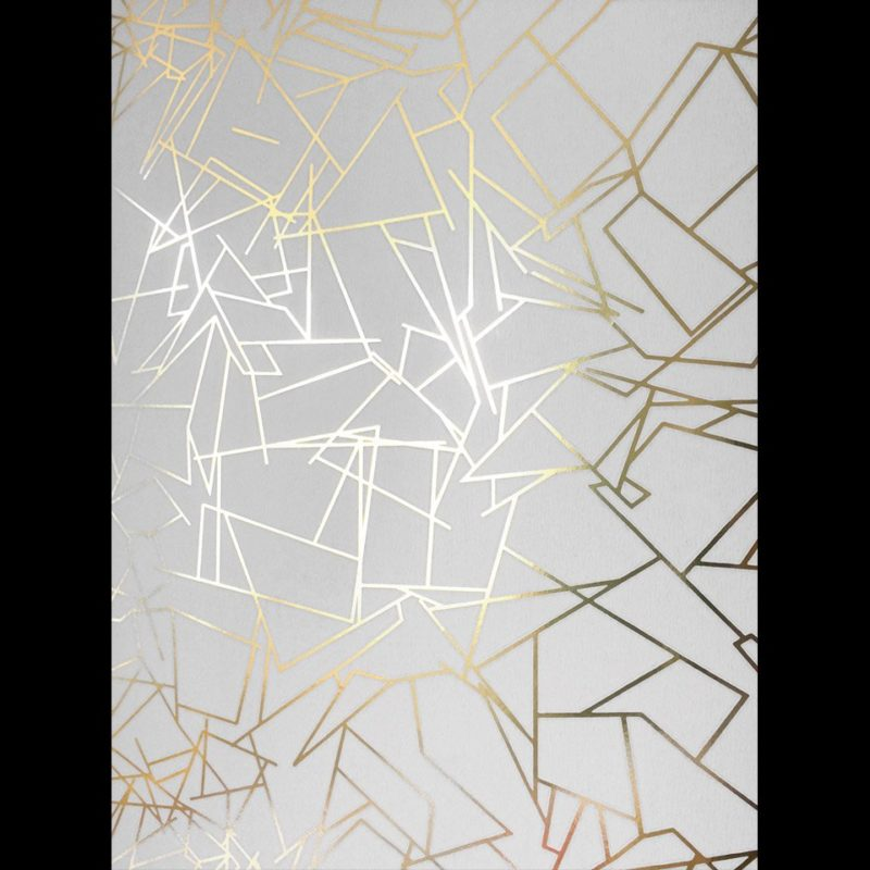 White and gold wallpaper Angles white gold