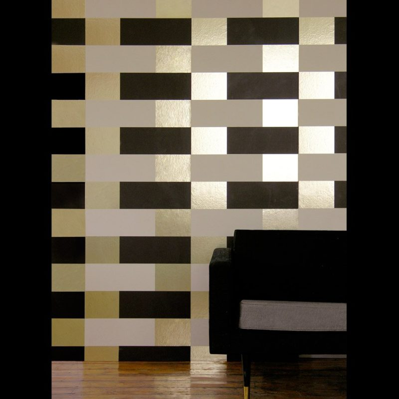 Gold brown wallpaper | Block brown gold cream wallpaper