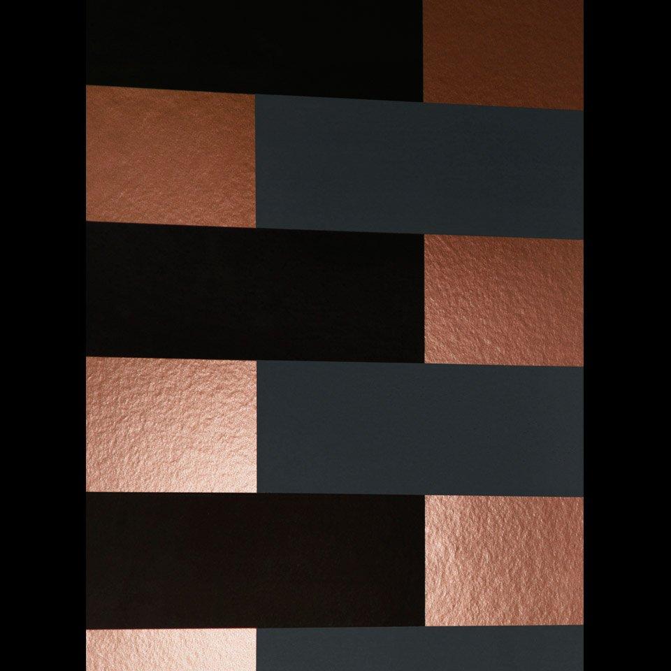 Copper And Black Wallpaper Block Copper Grey Black Erica Wakerly