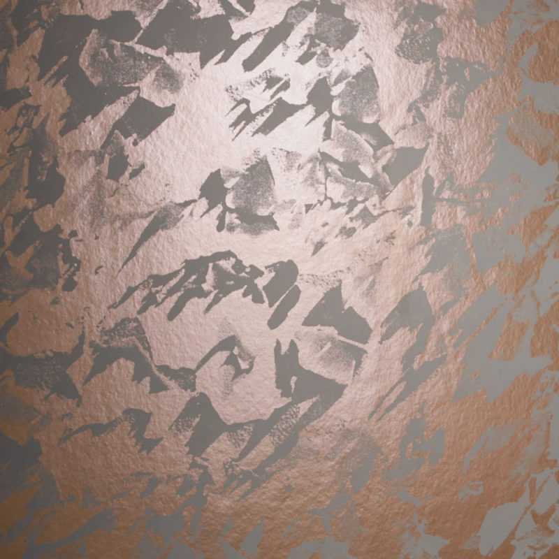 Desert copper rose / battleship grey wallpaper