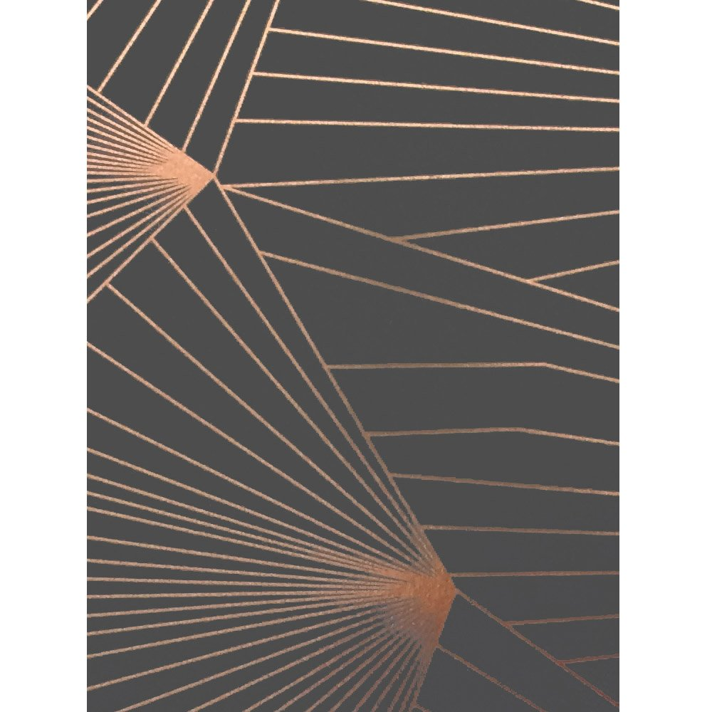 Grey And Copper Wallpaper Made In The Uk By Erica Wakerly