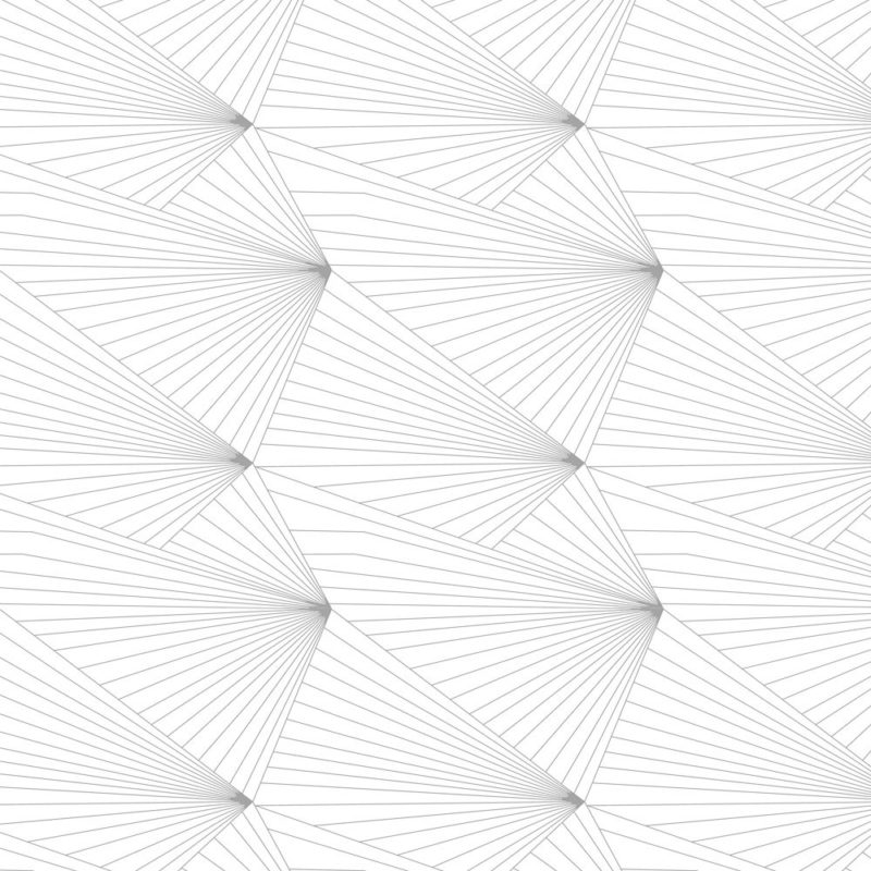 Fan grey and white wallpaper