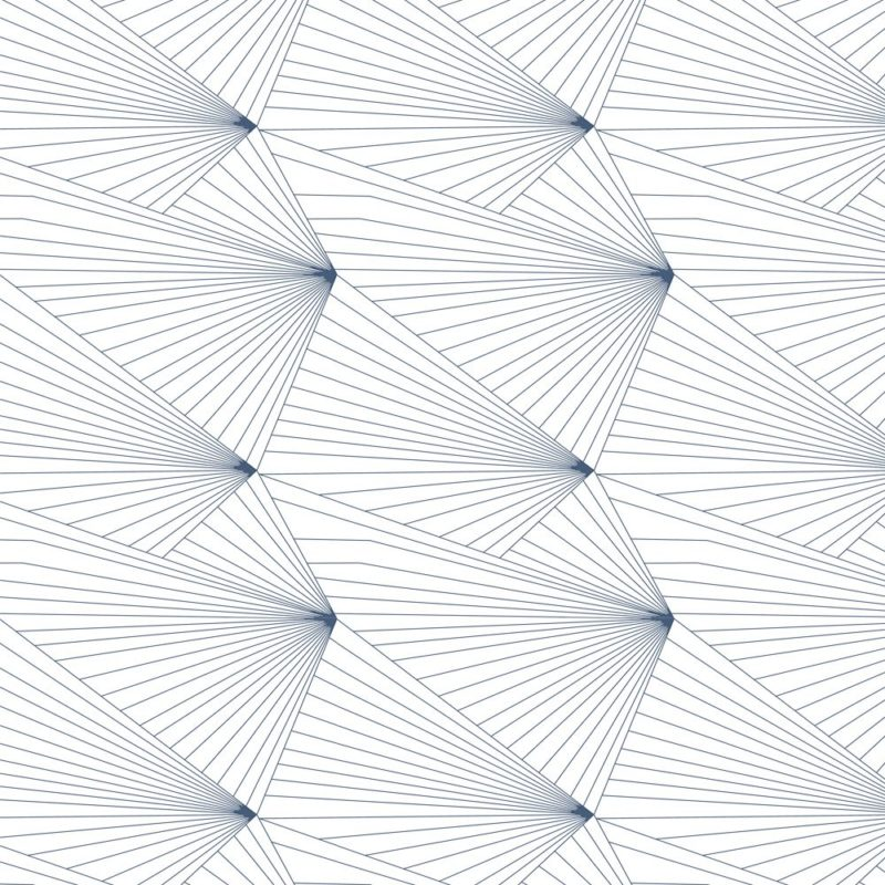 Fan navy and white wallpaper