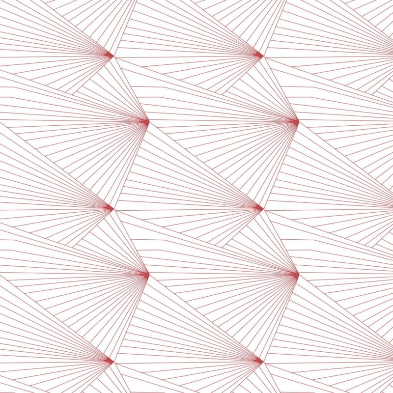 Fan red and white wallpaper