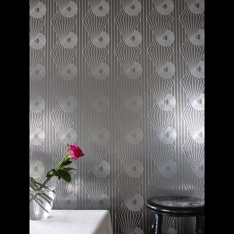 Minispiral silver grey wallpaper