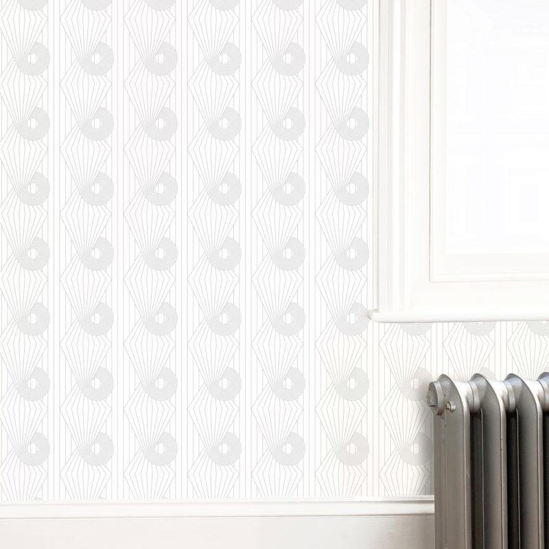 Minispiral grey white wallpaper