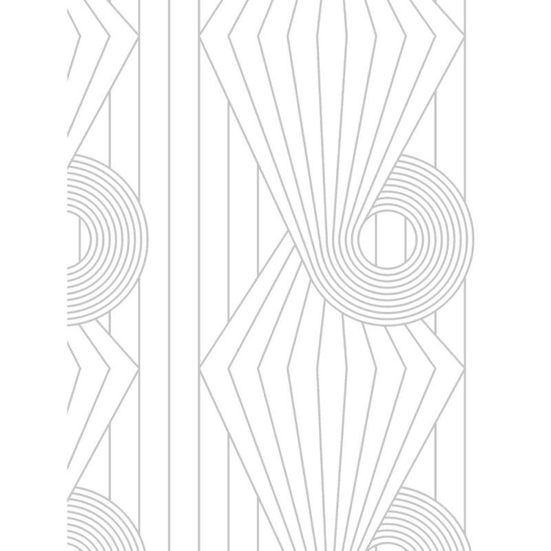 Minispiral grey white wallpaper sample