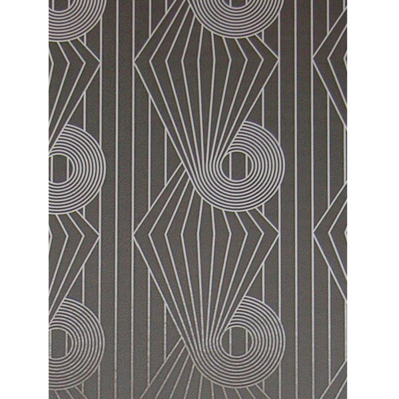 Minispiral grey silver wallpaper sample