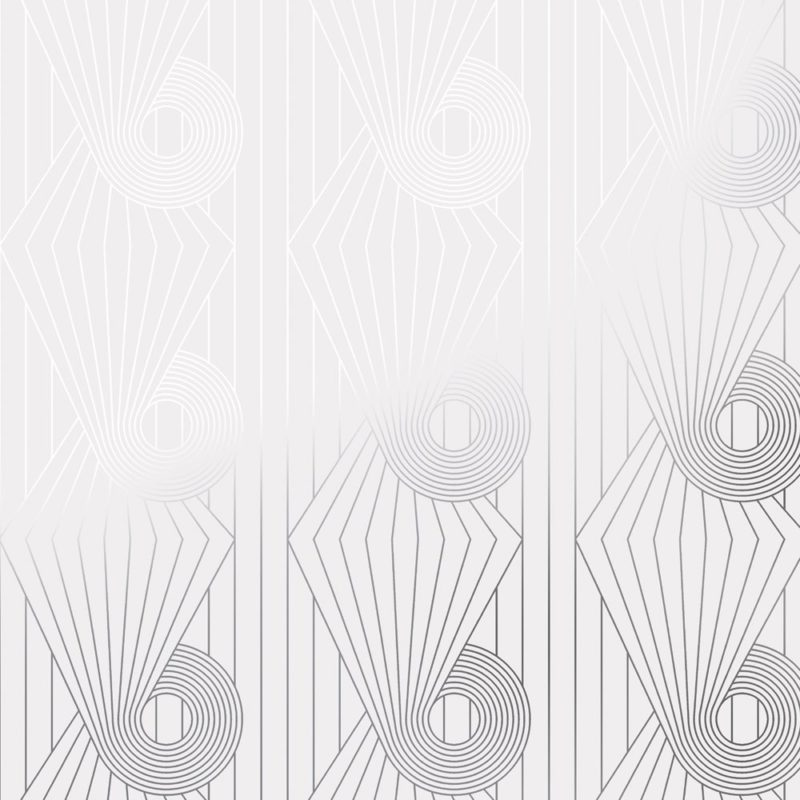 Minispiral silver white wallpaper
