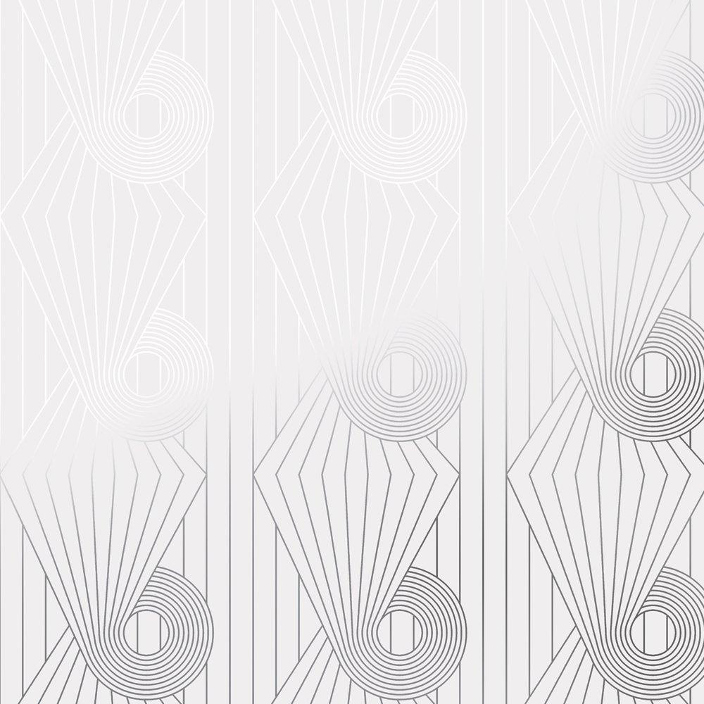 Minispiral silver white wallpaper