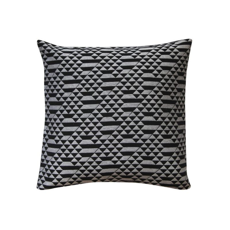 Miniteepee black monchrome furnishing fabric - cushion