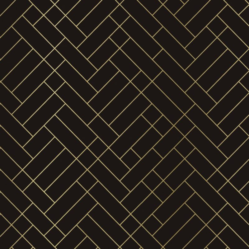 Tapet Cafe tile brown and gold wallpaper