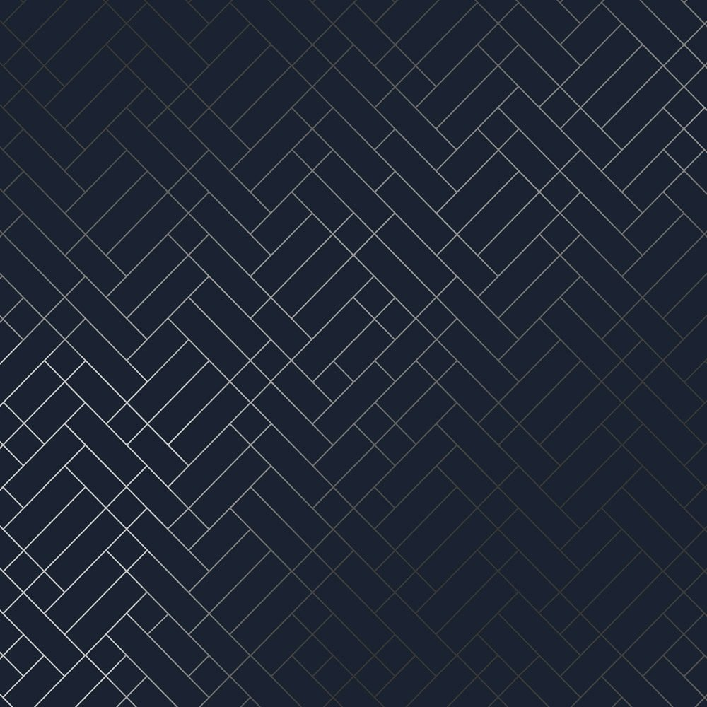 Navy blue and silver wallpaper | Tapet Cafe Tile | Erica ...