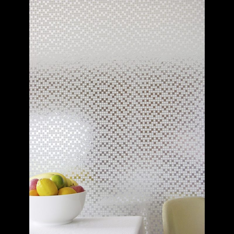 Tiles silver white wallpaper