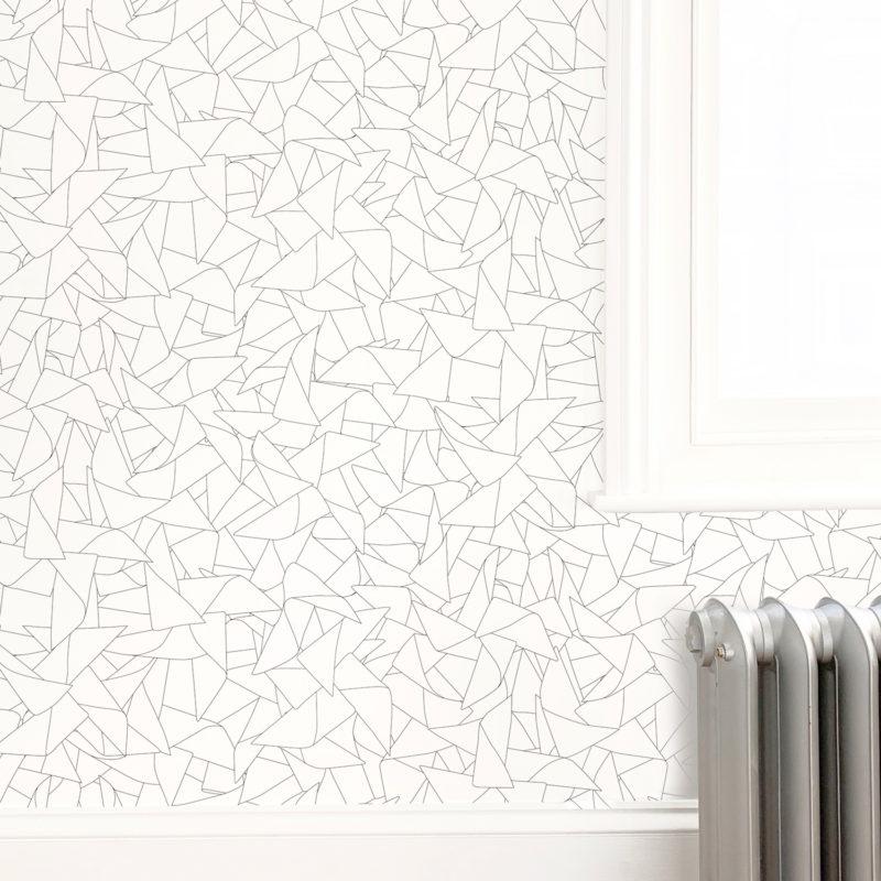 Windmill black white wallpaper