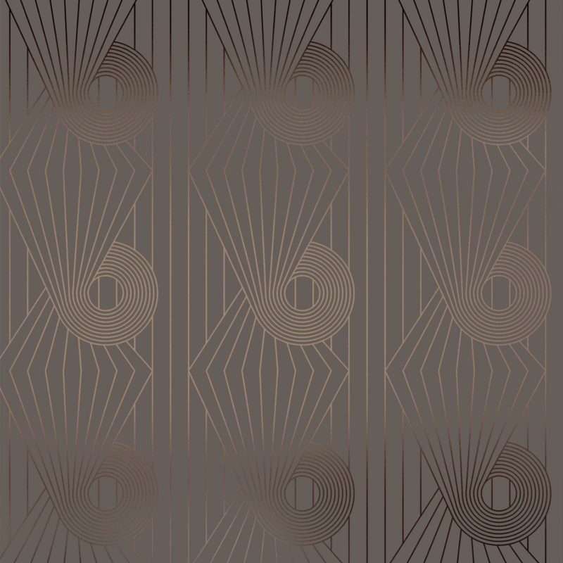 Minispiral bronze / cocoa brown wallpaper