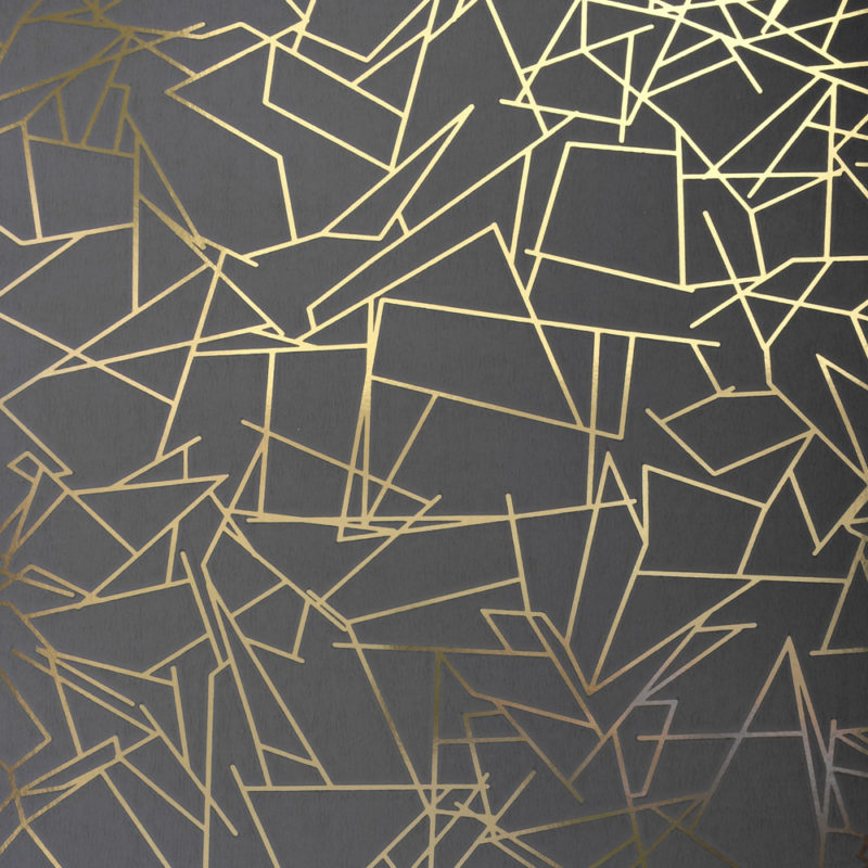 Angles gold lead grey wallpaper