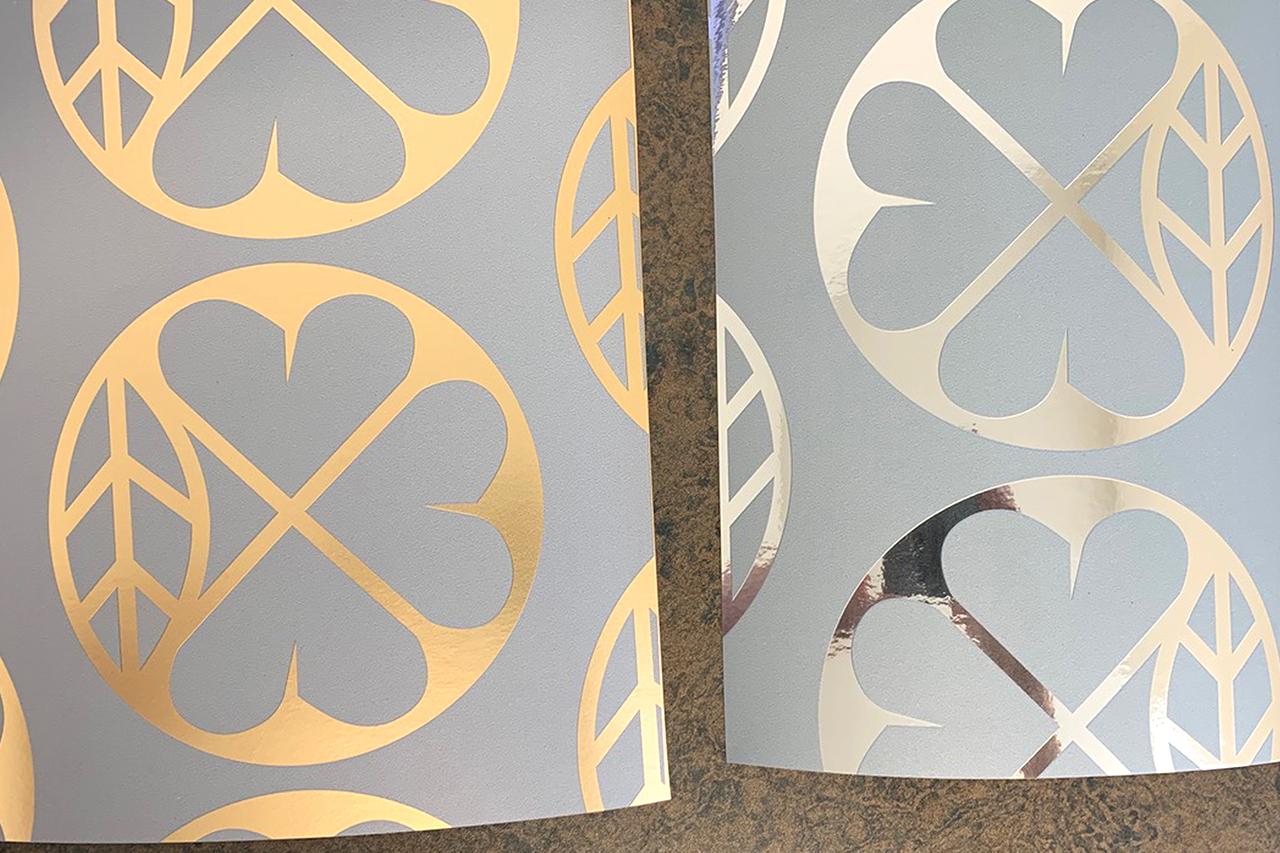 Custom metallic wallpaper